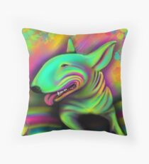 English Bull Terrier Colour Splash  Floor Pillow
