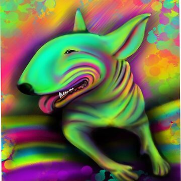 English Bull Terrier Colour Splash  by Sookiesooker