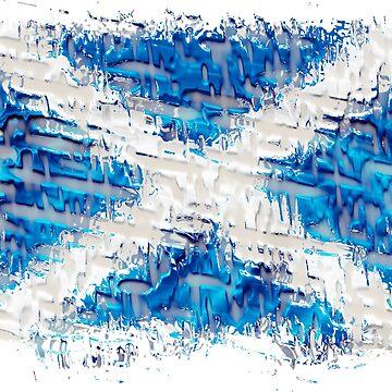 Scottish Saltire Flag Texture Design by Sookiesooker
