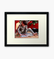 A picture for Santa! Framed Print
