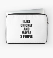 CRICKET Lover Funny Gift Idea I Like Hobby Laptop Sleeve
