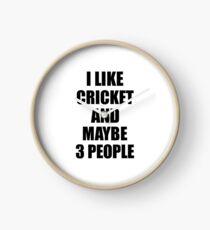CRICKET Lover Funny Gift Idea I Like Hobby Clock