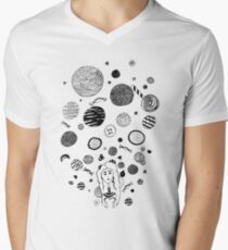 Snacks Mens V-Neck T-Shirt