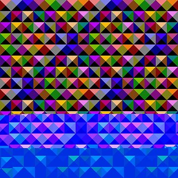 Hypnotic Multicolour Triangles Pattern by MarkUK97