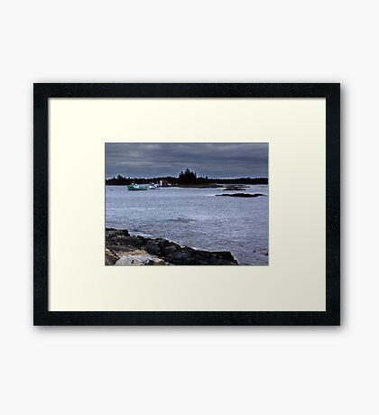 Blue Rocks, Late October Framed Print