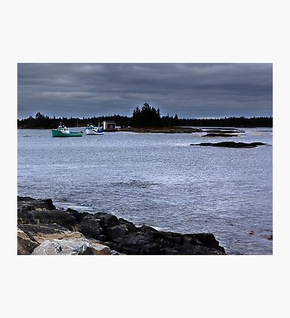 Blue Rocks, Late October Photographic Print