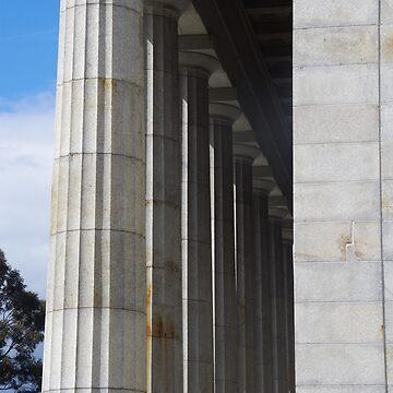 Melbourne Shrine Of Remembrance Pillars by lezvee