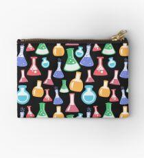 Chemistry Lab Flask Pattern Zipper Pouch