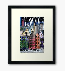 Night Cats On The Prowl Framed Print