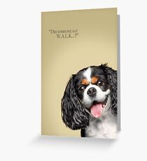 Curious and Cute Cavalier King Charles Spaniel Greeting Card