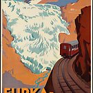 Vintage Train Switzerland Europe Travel Advertisement Art Posters by jnniepce
