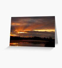 Through the Cloudy Sky the Sun Has Risen   Greeting Card