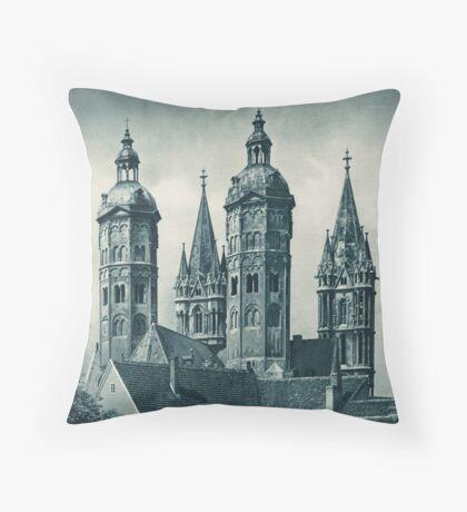 Vintage German Church Germany Travel Advertisement Art Posters Throw Pillow