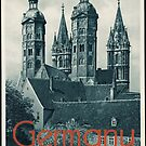 Vintage German Church Germany Travel Advertisement Art Posters by jnniepce