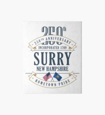 Surry, New Hampshire 250th Anniversary Art Board