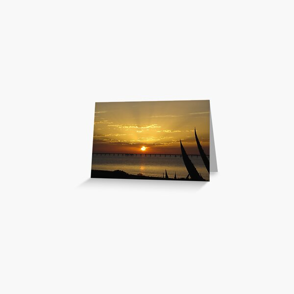Sunset at Point Lowly, SA Greeting Card