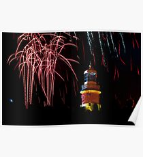 Smeatons Tower Fireworks Poster
