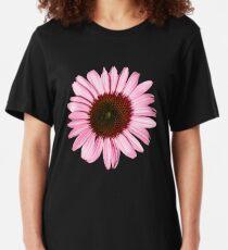 'New Pink Coneflower' Slim Fit T-Shirt