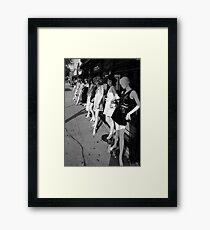 Fashion District Framed Print