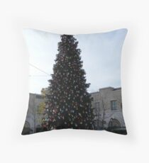 A 50- Foot Christmas tree..... Throw Pillow