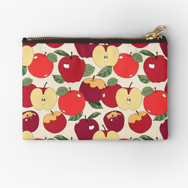 Juicy Red Apples Repeat Pattern Zipper Pouch