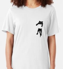 Cat in the pocket Slim Fit T-Shirt