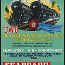 Vintage Seaboard Railway Florida Travel Advertisement Art Posters by jnniepce
