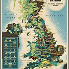 Vintage Great Britian England U.K. United Kingdom Travel Advertisement Art Posters by jnniepce