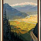 Vintage Grenoble Switzerland Train Travel Advertisement Art Posters by jnniepce