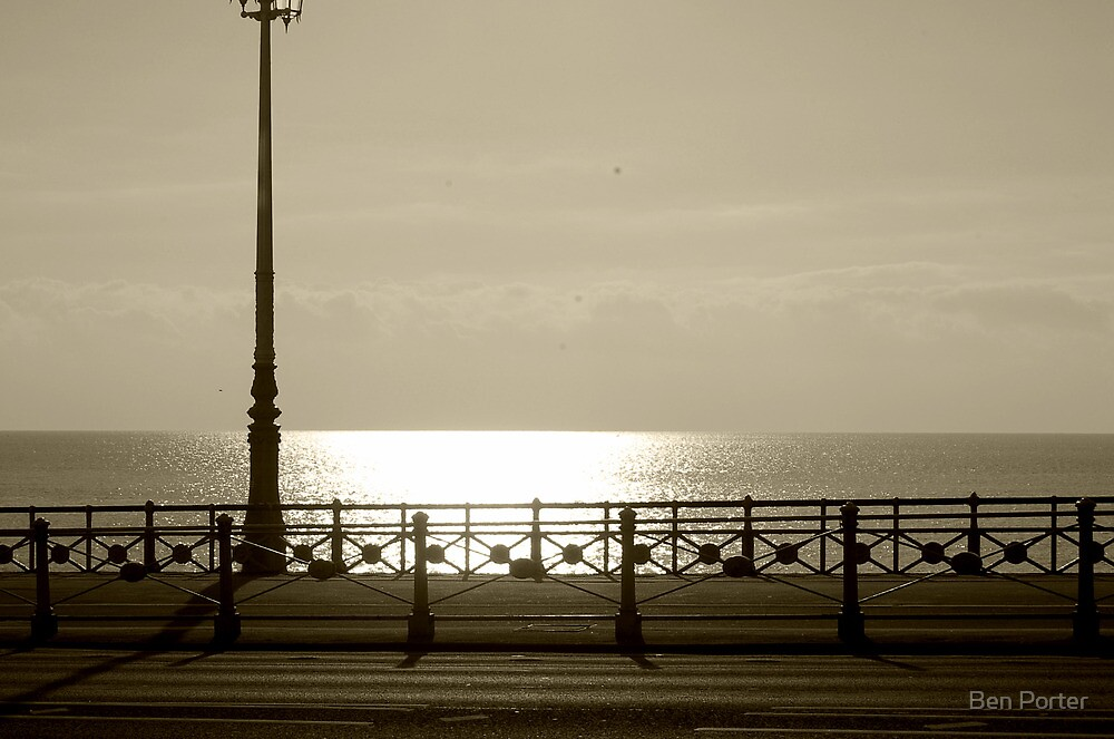 Sepia Sea Front by Ben Porter