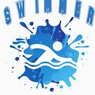 Swimmer a Gift for Swimming fans of All Ages who Love to Swim (Design Day 328) by TNTs