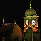 Clock Tower at Night by dmvphotos