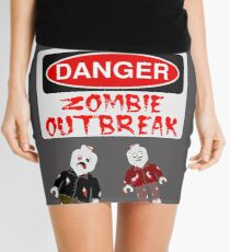 DANGER ZOMBIE OUTBREAK Mini Skirt