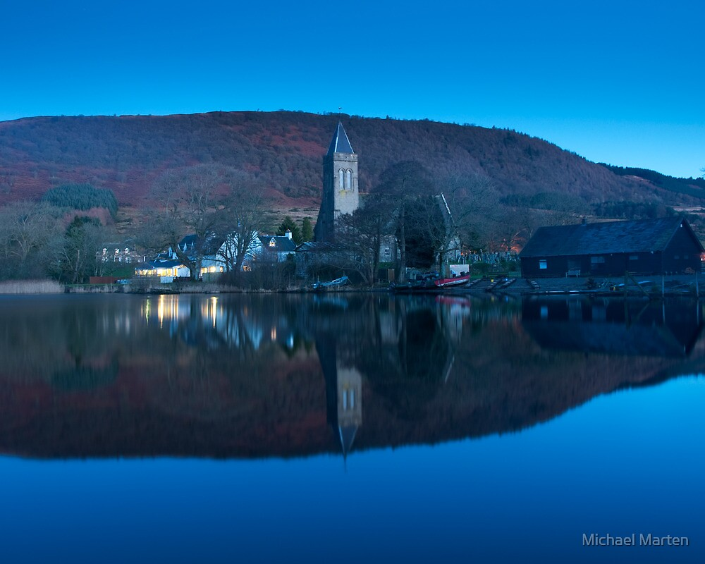 Sleeping Kirk, Port of Menteith, Scotland by Michael Marten