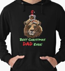 Best Christmas Dad Ever from daughter, son Lightweight Hoodie