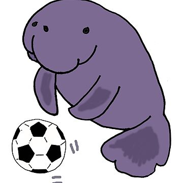 Funny Manatee Playing Soccer Carton by naturesfancy