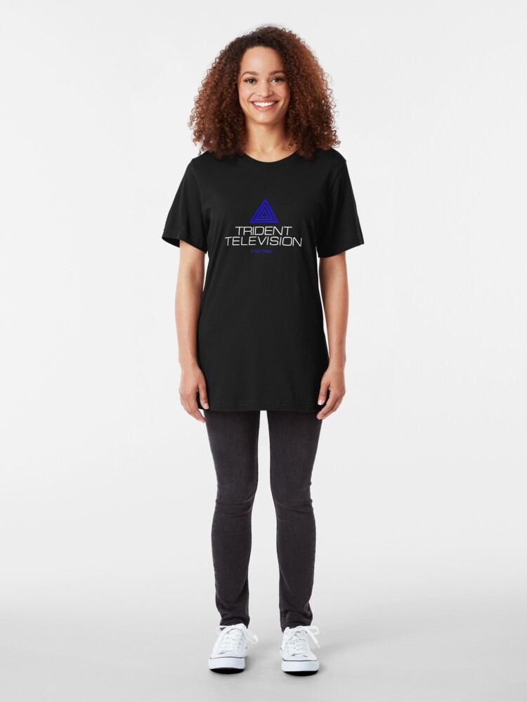 Alternate view of Trident Television (Tyne Tees) Slim Fit T-Shirt