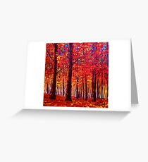 The Rustling Maple Leaves Greeting Card