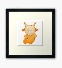 Funny cartoon goat Framed Print