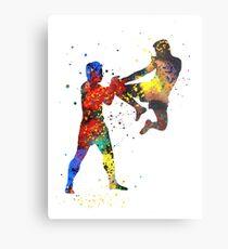 Lienzo metálico Hombre muay tailandés boxeo, muay thai boxing man