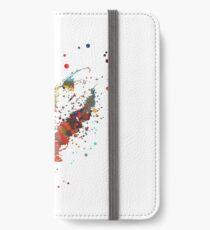 Lemur, watercolor lemur, lemur peeking iPhone Wallet/Case/Skin