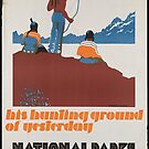 Vintage Native American Indian National Parks Travel Advertisement Art Posters by jnniepce