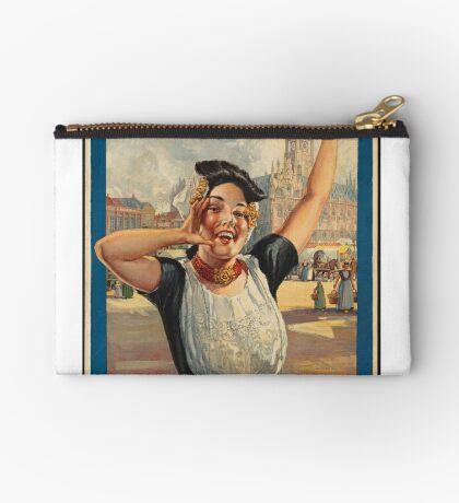 Vintage Holland Travel Advertisement Art Posters Zipper Pouch