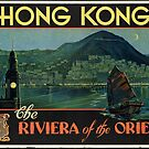 Vintage Hong Kong Travel Advertisement Art Posters by jnniepce