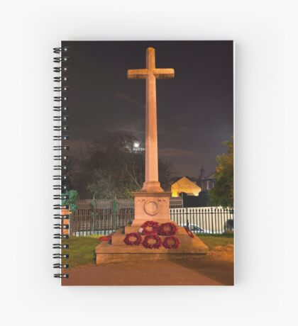 The Cross at Night: The Old Rugged Cross Spiral Notebook