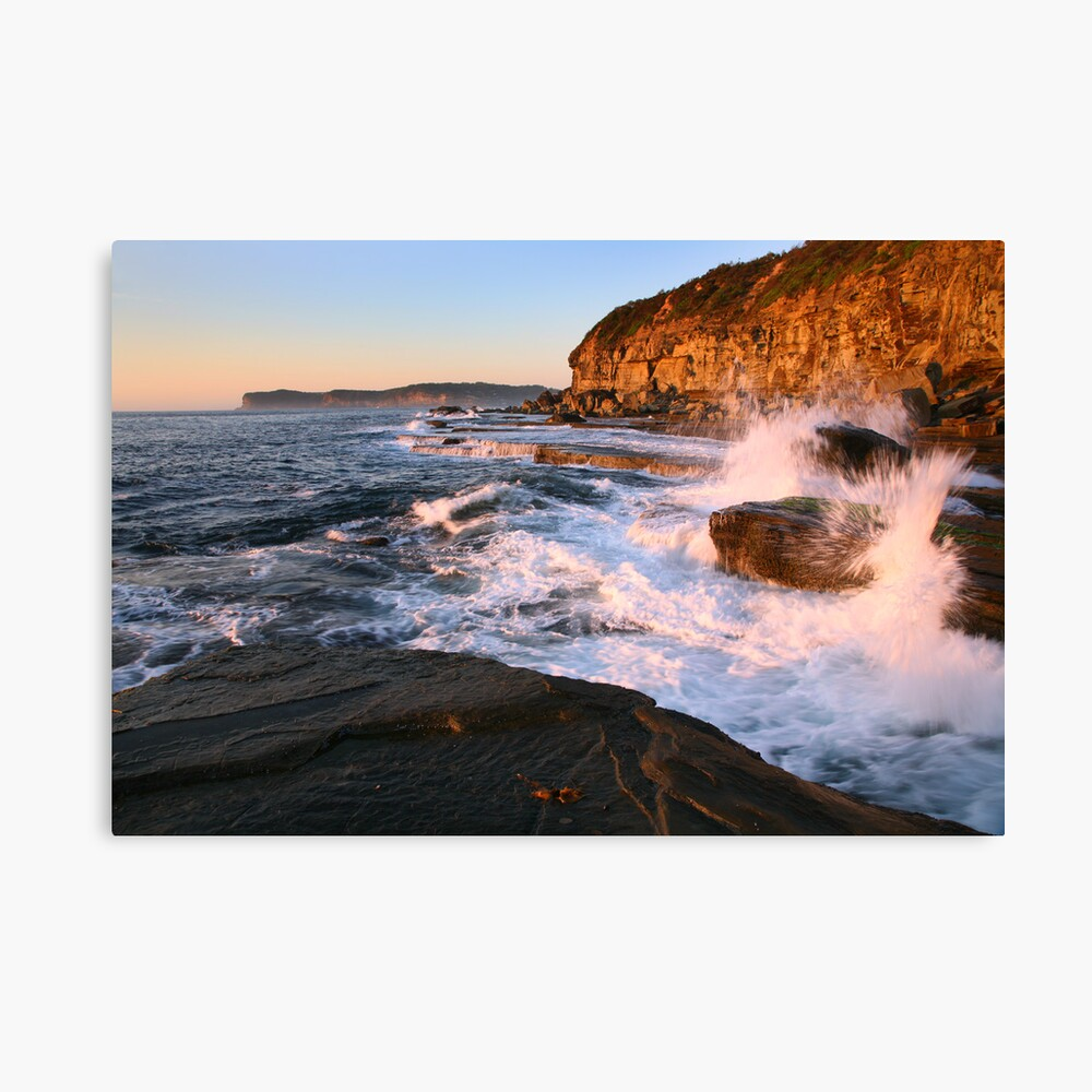 Terrigal Cliffs Assaulted, NSW, Australia Canvas Print