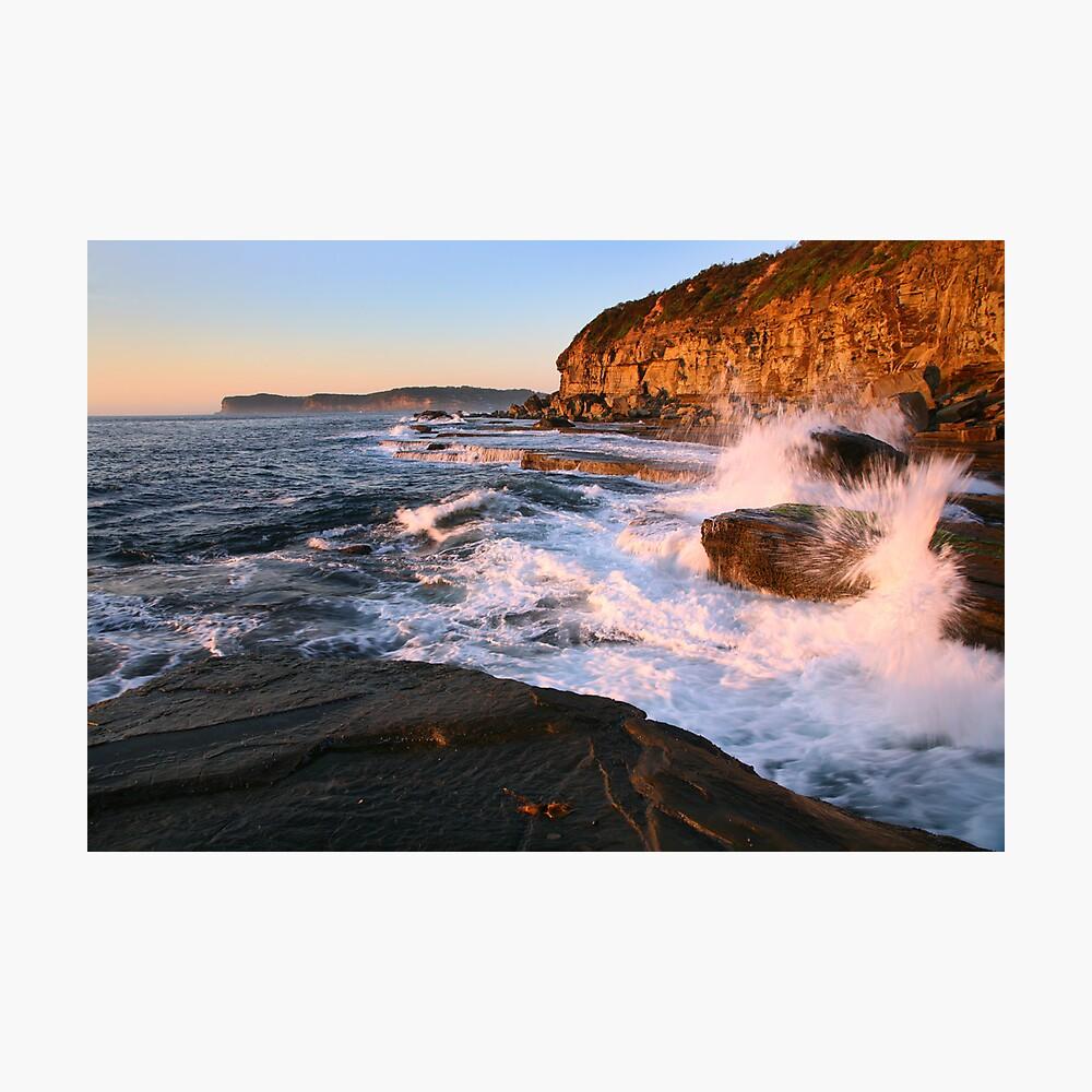 Terrigal Cliffs Assaulted, NSW, Australia Photographic Print