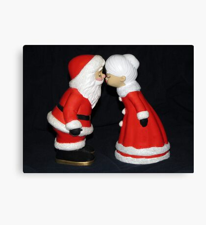 Santa and Mrs. Claus Canvas Print