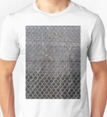 #Mesh #winter #nature #snow #frost #outdoors #icee #cold #wood #season #bird #tree #frozen #dry #garden #grass #weather #horizontal #colorimage #nopeople #closeup #plant #day #animal Unisex T-Shirt