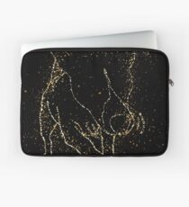Dog funny playful golden ornament Gold Laptop Sleeve